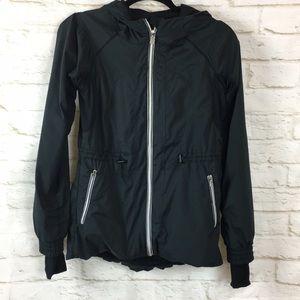 Lululemon Black Running Full Zip Hoodie Jacket XS